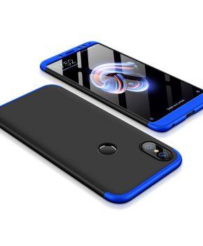 hoesje voor Xiaomi Redmi 5 Plus / Note 5 (dual cam) - zwart / blauw