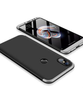 hoesje voor Xiaomi Redmi 5 Plus / Note 5 (dual cam) - zwart / zilver