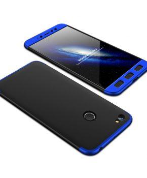360 full body hoesje voor Xiaomi Redmi Note 5A Prime - zwart / blauw
