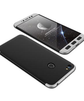 360 full body hoesje voor Xiaomi Redmi Note 5A Prime - zwart / zilver