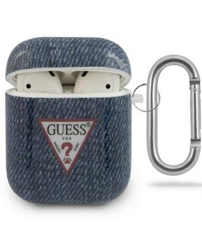 Guess AirPods 1 /2 case - marine / donkerblauwe Jeans Collectie
