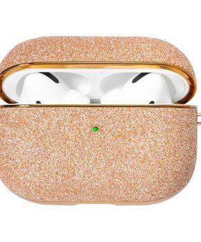 Kingxbar Bling shiny glitter case voor AirPods Pro - goud
