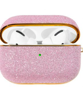 Kingxbar Bling shiny glitter case voor AirPods Pro - roze