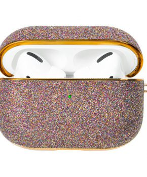 Kingxbar Bling shiny glitter case voor AirPods Pro - paars