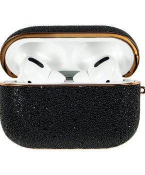 Kingxbar Bling shiny glitter case voor AirPods Pro - zwart