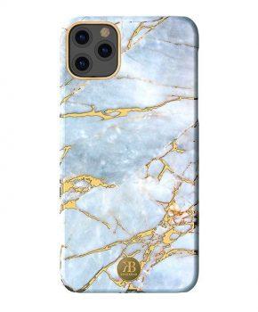 Kingxbar Marble Series hoesje voor iPhone 11 Pro Max - wit blauw