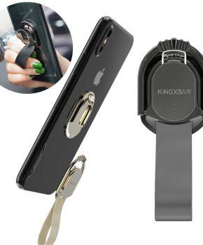 Kingxbar Princess Series zelfklevende ringhouder standaard - zwart