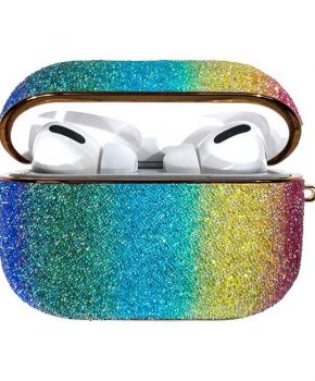 Kingxbar Bling shiny glitter case voor AirPods Pro - multicolour