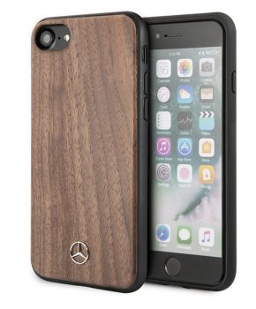 iPhone 8/7/6s/6 hoesje - Mercedes-Benz - Hout-look Walnotenhout