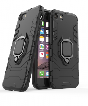 Ring Armor Case Kickstand voor iPhone SE 2020 / iPhone 7/8 - zwart