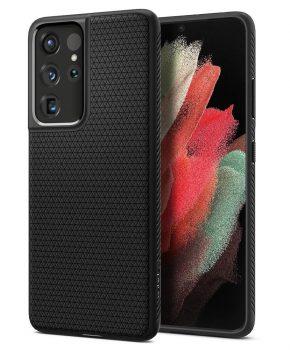 Spigen Liquid Air voor  Galaxy S21 Ultra Matte zwart