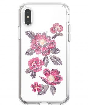 Speck Presidio Clear Print iPhone X / XS hoesje Floral Embroidered