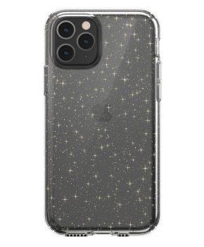Speck - Clear Glitter Case iPhone 11 gouden glitters