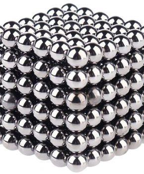 Neocube magneetballetjes 216 stuks - 5mm - zilver