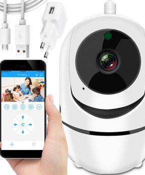 Wifi IP nanny camera met tweeweg intercom - wit