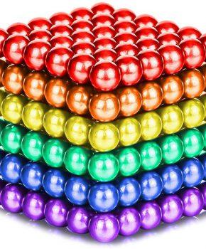 Neocube magneetballetjes 216 stuks - 5mm - regenboog