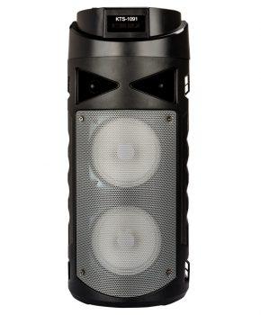 2 speaker bluetooth luidspreker met led - grijs - oplaadbaar