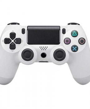 Double schock draadloze vervangende PS4 bluetooth controller - wit