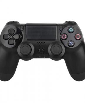 Double schock draadloze vervangende PS4 bluetooth controller - zwart