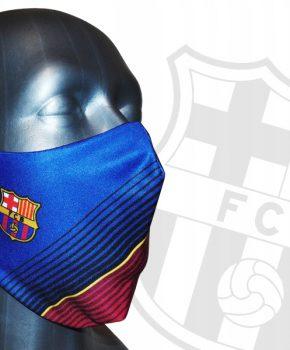 Barcelona mondmasker Junior rood / blauw-  7 tot 14 jaar