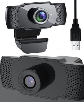 Full HD 1080p webcam - pc camera - zwart - ingebouwde  microfoon