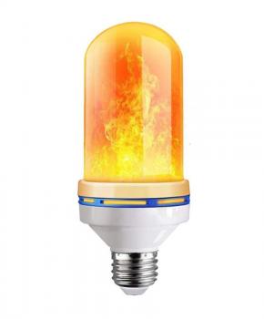 E27 Ledlamp die een echte vlam imiteert - 6W - 3 modi