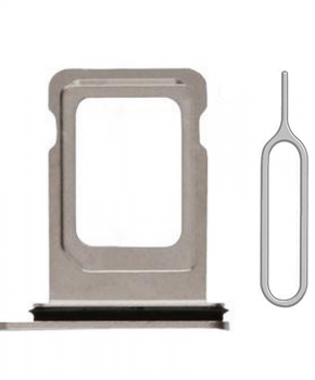 Voor iPhone 11 PRO / 11 PRO MAX single simkaart houder - zilver