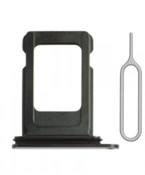 Voor iPhone 11 PRO / 11 PRO MAX single simkaart houder - zwart