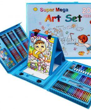 Supermega 208 Delige Deluxe Art Set voor kinderen - blauw