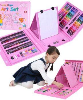 Supermega 208 Delige Deluxe Art Set voor kinderen - roze