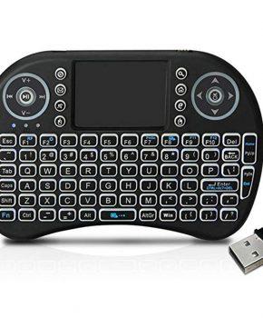 Draadloos verlicht mini mediatoetsenbord - multifunctioneel - QWERTY