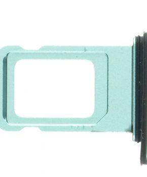 """Voor iPhone 11 6.1"""" simkaart houder met rubber - groen"""