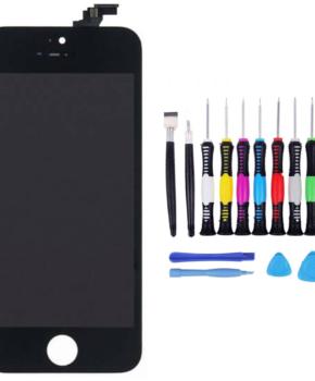 Voor iPhone 5s Scherm zwart -  met 16-delig professionele reparatiekit