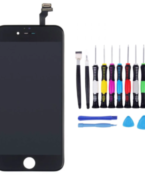 Voor iPhone 6 Scherm zwart -  met 16-delig professionele reparatiekit