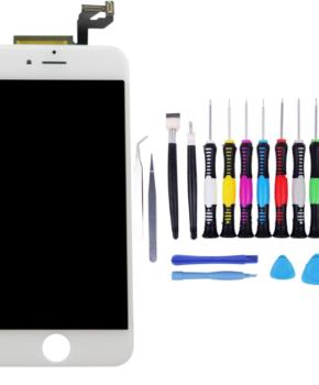 Voor iPhone 6S Plus Scherm wit - met 16-delig professionele reparatiekit