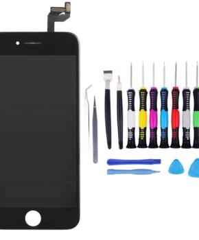 Voor iPhone 6S Scherm zwart - met 16-delig professionele reparatiekit