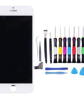 Voor iPhone 7 LCD Scherm wit - met 16-delig professionele reparatiekit