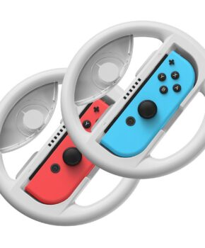 2x set autostuurgreep voor Joy-Con joystickpad - Switch grijs