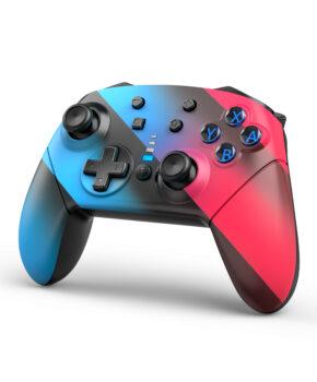 Bluetooth controller geschikt voor Nintendo Switch Pro & PC - gestreept