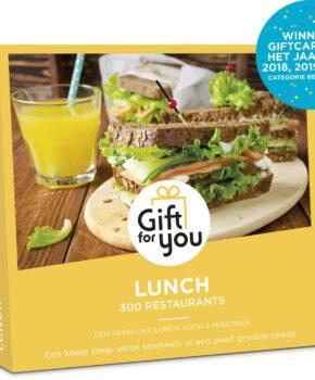GiftForYou Cadeaubon - Lunch - 3 jaar en 3 maanden geldig