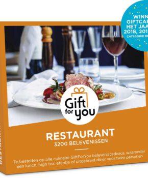 GiftForYou Cadeaubon - Restaurant 3 jaar geldig