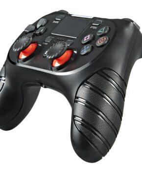 Draadloze controller geschikt voor Playstation 4 met trilfunctie - zwart