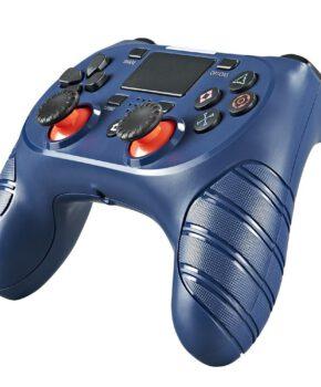 Draadloze controller geschikt voor Playstation 4 met trilfunctie - donkerblauw