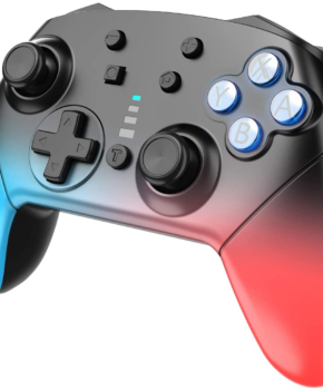 Bluetooth controller geschikt voor Nintendo Switch Pro & PC - blauw / rood