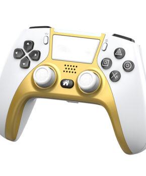 draadloze controller - duo vibra  geschikt voor Playstation 4 - goud / wit