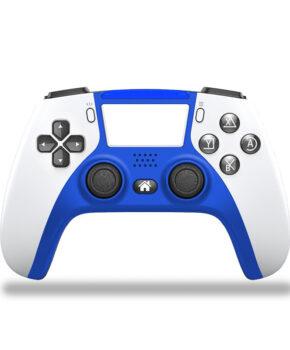 draadloze controller - duo vibra  geschikt voor Playstation 4 - blauw / wit