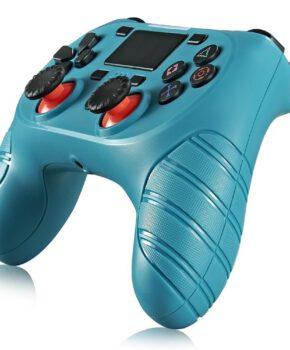 Draadloze controller geschikt voor Playstation 4 met trilfunctie - zeegroen