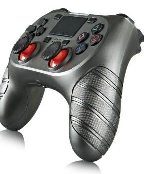 Draadloze controller geschikt voor Playstation 4 met trilfunctie - zilver