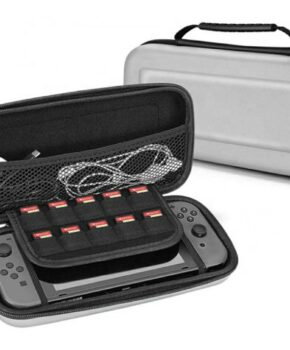 Voor NINTENDO Switch Compatible Console etui - zilver