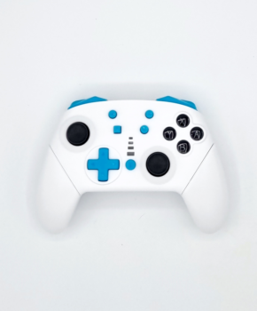 Bluetooth controller geschikt voor Nintendo Switch Pro & PC - wit / blauw